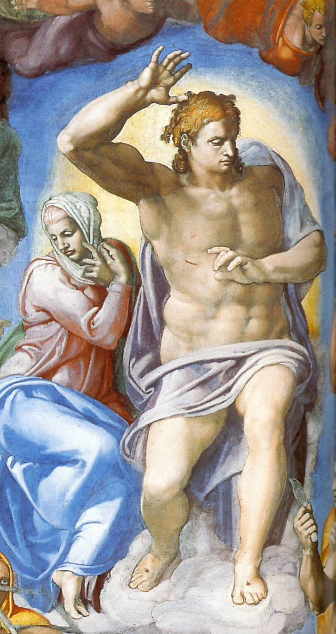 Michelangelo's The Last Judgement. Christ